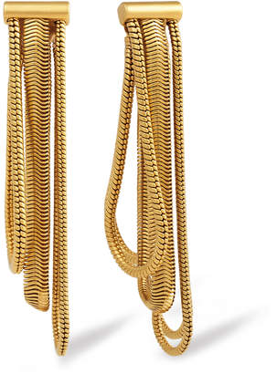 Rachel Zoe Jade Snake-Chain Drop Earrings