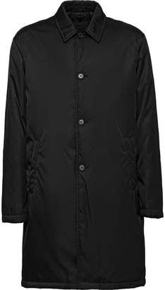 Prada gabardine padded raincoat