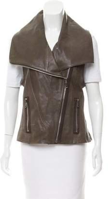 Andrew Marc Leather Moto Vest