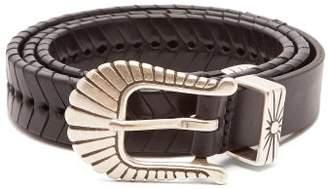 Isabel Marant Jigoo Braided Leather Belt - Womens - Black