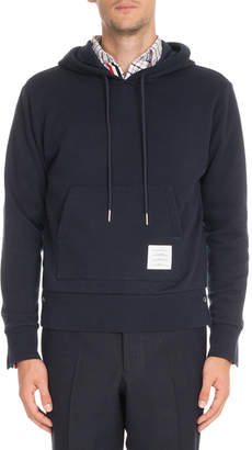 Thom Browne Striped-Back Pullover Hoodie