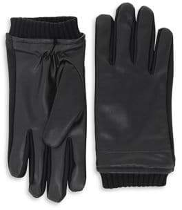 Isotoner SmarTouch Faux Nappa Gloves with Thermaflex Lining