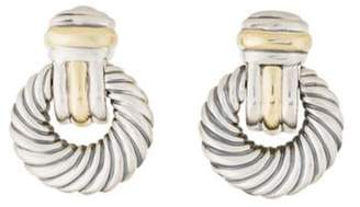 David Yurman Cable Doorknocker Earclips silver Cable Doorknocker Earclips
