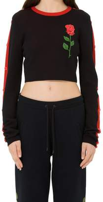 Marcelo Burlon County of Milan Waknash Embroidered Wool Crewneck