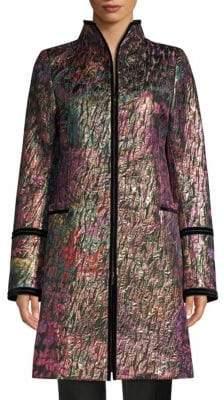 Josie Natori Bohemia Garden Jacquard Long Jacket