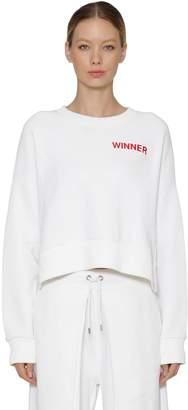 Aalto Winner Cropped Cotton Sweatshirt