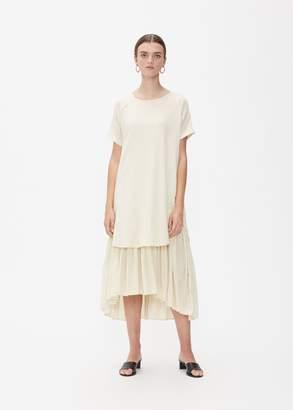 Black Crane Short Sleeve Double Dress