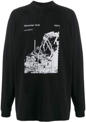 Off-White photographic print long-sleeved T-shirt