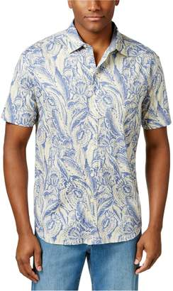 Tommy Bahama Mens I'm With The Bandana Button Up Shirt Beringblue L