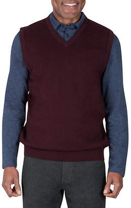 Haggar V-Neck Cotton Sweater Vest