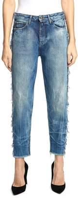 PRPS Bel Air High Waist Contrast Seam Boyfriend Jeans