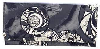 Emilio Pucci Abstract Print Patent Leather Wallet