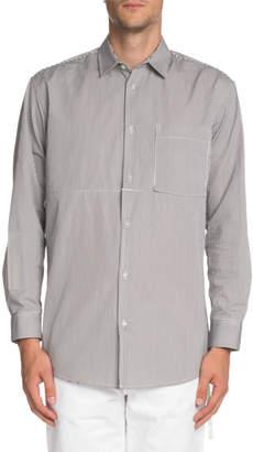 Off-White Off White Men's Striped Convertible Sport Shirt