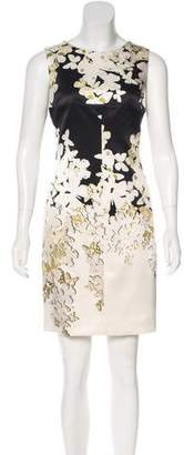 Versace Butterfly Print Silk Dress