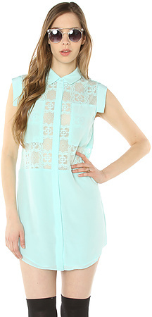 Funktional The Digital Panel Dress in Mint