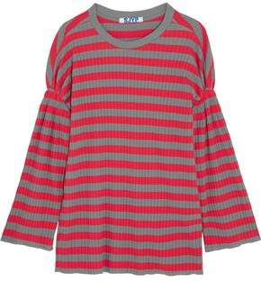SteveJ & YoniP Steve J & Yoni P Striped Ribbed Cotton Top