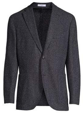 Boglioli Regular Fit Donegal Tweed Blazer