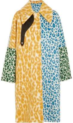 Acne Studios Bertilyn Leo Oversized Leopard-Print Felt Coat