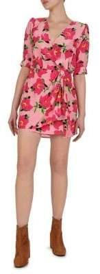 The Kooples Floral Silk Wrap Dress