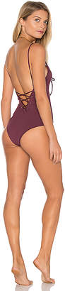 TAVIK Swimwear Monahan One Piece Swimsuit in Wine $139 thestylecure.com