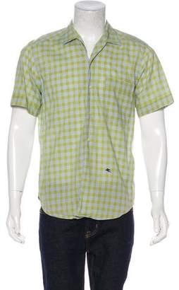 Etro Gingham Short Sleeve Shirt