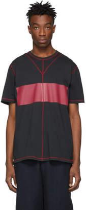 Craig Green Black and Red Acid Wash T-Shirt