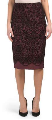 Printed Pencil Skirt