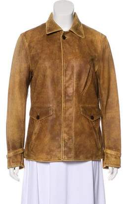 Ralph Lauren Distressed Button-Up Jacket