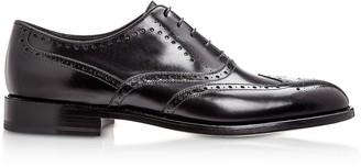 Moreschi Boston Black Calfskin Oxford Shoes