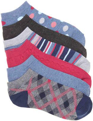 Kelly & Katie Printed No Show Socks - 6 Pack - Women's