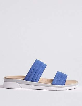 Marks and Spencer Suede Two Strap Mule Sandals