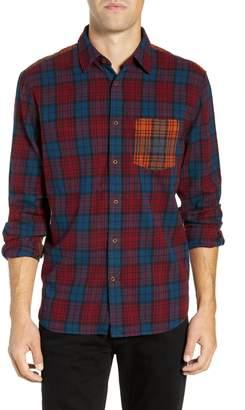 French Connection Regular Fit Tartan Flannel Sport Shirt