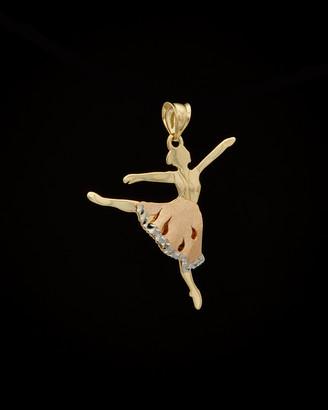 Italian Gold 14K Tri-Tone Ballerina Pendant