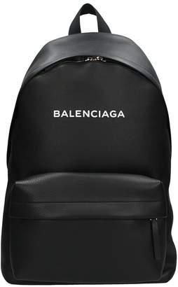 Balenciaga Everiday Black Leather Backpack