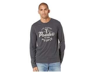 Life is Good Powder To The People Cool Long Sleeve T-Shirt