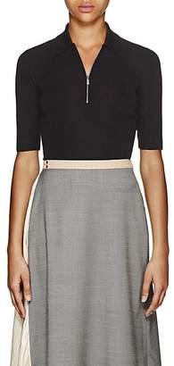 Prada Women's Cashmere-Silk Half-Zip Sweater - Black