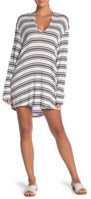 Splendid Habit Stripe Tunic Hoodie