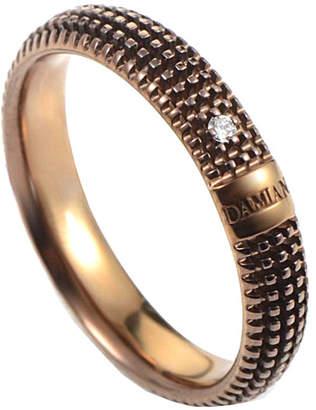 Damiani 18K Rose Gold & Rhodium Diamond Ring