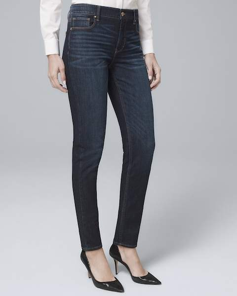 Whbm High-Rise Sculpt Fit Slim Jeans