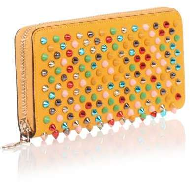 Christian Louboutin Christian Louboutin Panettone yellow multi-tone spikes wallet