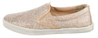 Jimmy Choo Glitter Slip-On Sneakers