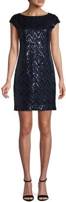 Eliza J Sequin-Embellished Mini Dress