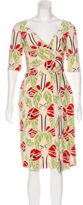 Temperley London Printed Knee-Length Dress