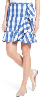 Women's Draper James Check Miniskirt $150 thestylecure.com