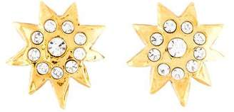 Christian Lacroix Crystal Star Clip-On Earrings
