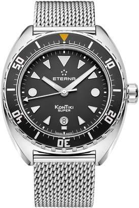Eterna Men's Super Kontiki 45mm Steel Bracelet Automatic Watch 1273-41-40-1718