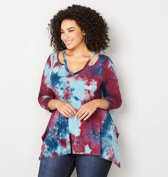 Avenue Tie Dye Cut Out Sharkbite Top