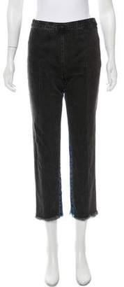Rachel Comey Colorblock Mid-Rise Jeans