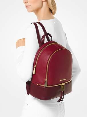 871c945aeb ... promo code for at michael kors michael michael kors rhea medium color  block pebbled leather backpack ...