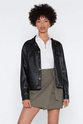 Nasty Gal Motor Mouth Faux Leather Jacket